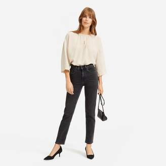 Everlane The Shirred Cupro Blouse