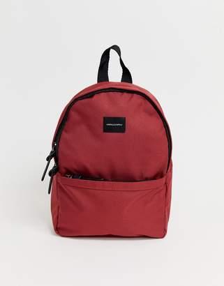 Asos Design DESIGN mini backpack in burgundy-Red