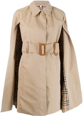 Burberry cape trench coat