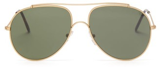 L.g.r Sunglasses - Kilimanjaro Aviator Metal Sunglasses - Green Gold