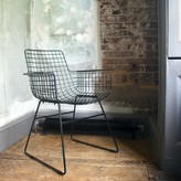 Graham and Green Wire Armchair In Black