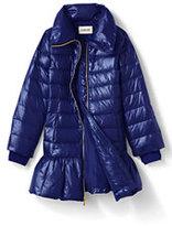 Classic Girls Trapeze Fashion Down Coat-Velvet Flocked Hearts