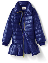 Classic Little Girls Trapeze Fashion Down Coat-Ocean Navy