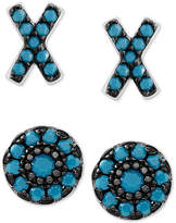 Macy's 2-Pc. Set X and O Stud Earrings in Sterling Silver