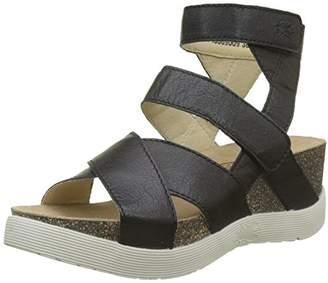 Fly London Women's WEGE669FLY Gladiator Sandals, Black 009, 9 (42 EU)