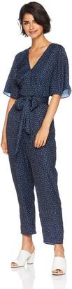 The Fifth Label Women's Rooftop V Neck Short Sleeve Polka Dot Jumpsuit