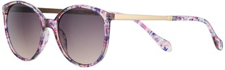 Apt. 9 Women's Metal Temple Purple Combo Round Sunglasses