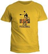 Idakoos LIFE IS SIMPLE EAT , SLEEP Pickleball - Sports - T-Shirt