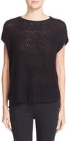 ATM Anthony Thomas Melillo Diagonal Stitch Cotton Blend Sweater