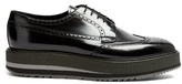 Prada Stacked-sole Leather Brogues