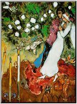 Art.com ''Three Candles'' Wood Wall Art by Marc Chagall