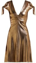 Maria Lucia Hohan Soraya Lame Mini Dress - Womens - Gold