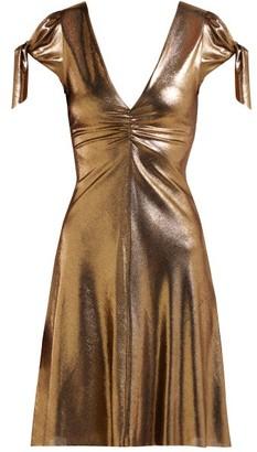 Maria Lucia Hohan Soraya Lame Mini Dress - Womens - Gold