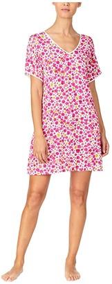 Kate Spade Modal Jersey Sleepshirt (Marker Floral) Women's Pajama