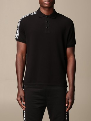 Just Cavalli Polo Shirt With Logoed Bands