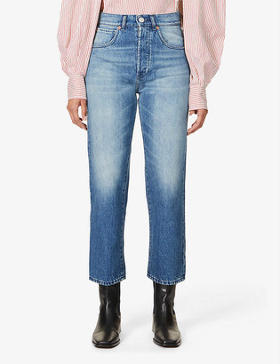 3x1 Sabina Girlfriend straight-leg mid-rise jeans