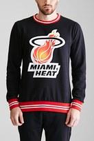 Forever 21 FOREVER 21+ Varsity-Striped Miami Heat Sweatshirt