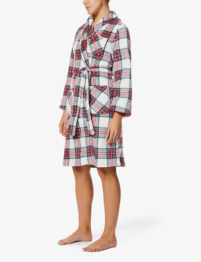 Thumbnail for your product : Lauren Ralph Lauren Branded check-print woven robe