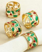 Lenox Napkin Rings, Set of 4 Holly & Berries