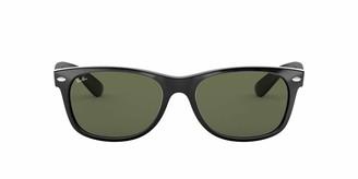 Ray-Ban Women's New Wayfarer Square Sunglasses BLACK 58 mm