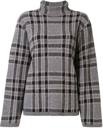 Undercover Check Knitted Top