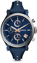 Fossil Original Boyfriend Sport Chronograph Blue Leather Watch
