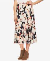 1 STATE 1.STATE Printed Pleated Midi Skirt