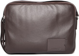 Lacoste Brown Leather Airline Bag