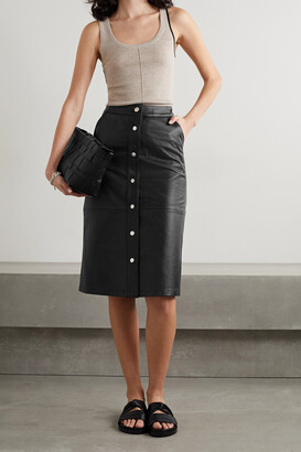 Deadwood + Net Sustain Lara Recycled Leather Skirt - Black