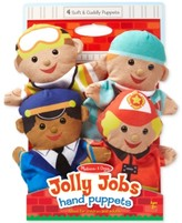 Melissa & Doug Kids' Jolly Jobs Hand Puppets Set
