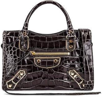 Balenciaga Mini City Bag in Dark Grey | FWRD