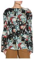 Marni Magnum AbstractPrint Poplin LongSleeve Shirt, Multicolor