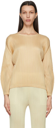 Pleats Please Issey Miyake Beige Monthly Colors January Sweater
