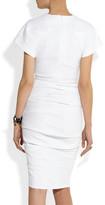 La Petite S***** Belted woven stretch linen-blend dress