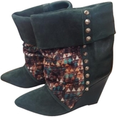 Isabel Marant Green Leather Ankle boots