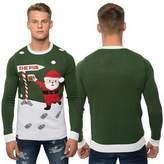 Loyalty And Faith Mens Novelty Christmas Jumper Knitted Top Santa 3D Xmas Sweater