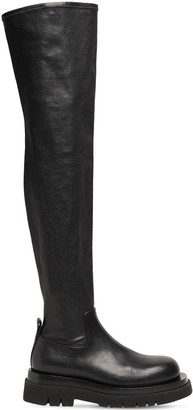 Bottega Veneta 50mm Lug Leather Over-the-knee Boots