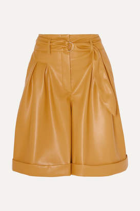 Nanushka Colorado Belted Vegan Leather Shorts