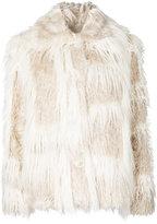 Helmut Lang fringed coat