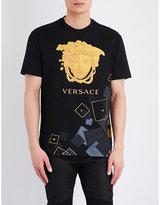 Versace Deconstructed-medusa Cotton T-shirt