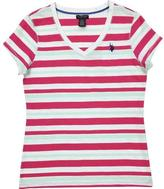 U.S. Polo Assn. Striped Slub Jersey V-Neck