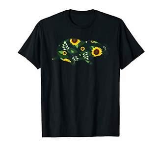 Mole Sunflower Girl Floral Insectivore Hawaiian Women Gift T-Shirt