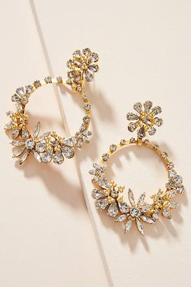 Elizabeth Cole Vera Hoop Earrings By in Clear Size ALL