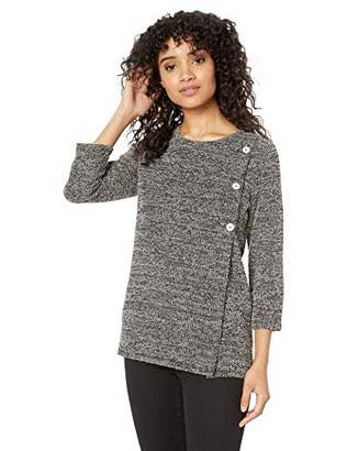Chaus Women's L/S 2-Tone Snit Top w/Buttons