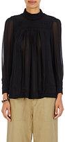 Isabel Marant Women's Maeva Embroidered Silk Blouse-BLACK
