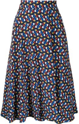 La DoubleJ Patterned Circle Skirt