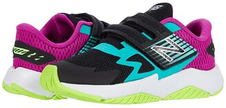 New Balance Rave Run Hook-And-Loop (Infant/Toddler) (Black/Poisonberry) Girl's Shoes