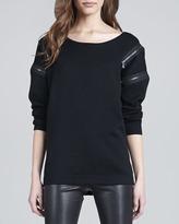 J Brand Ready to Wear Signe Zip-Detail Sweater