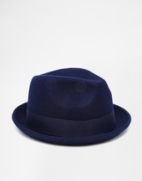 Goorin Rude Boy Flip Up Fedora Hat - Blue