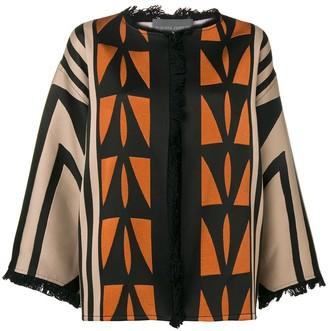 Alberta Ferretti geometric pattern cardigan